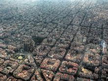 Eixample from the sky
