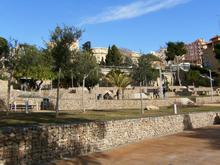 The park built in front of the amphitheatre