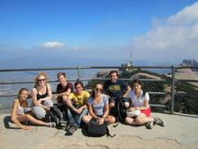 Our group at the highest point in Montserrat