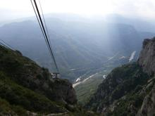 View from cable car to Montserrat