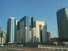 Ezdan Hotel towers (in the middle)